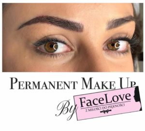 Makijaż permanentny brwi wykonany metodą włosa