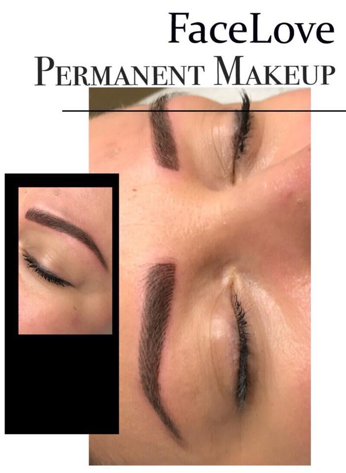 Makijaż permanentny brwi, metoda włosa
