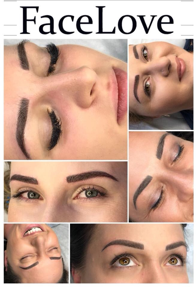 Makijaż permanentny brwi metodą włosa z pudrem