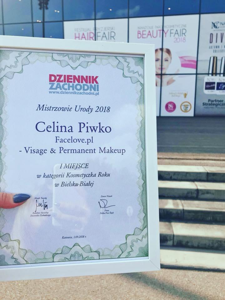 I miejsce: kosmetyczka roku 2018 w Bielsku-Białej