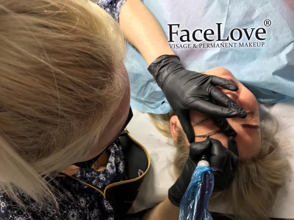 Szkolenie PMU Edyty z Niemiec, dzień I - brwi metodą włosa