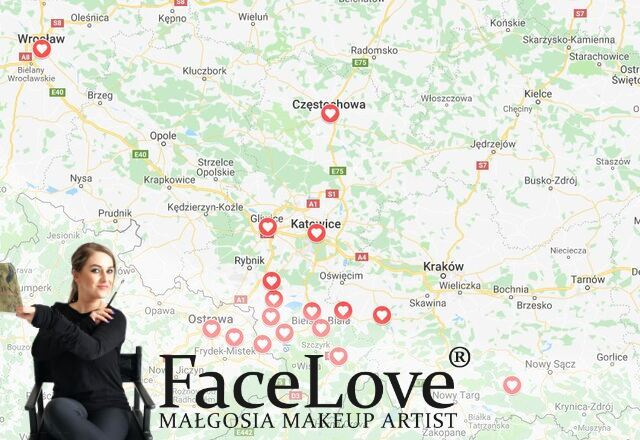 Małgosia - mapa klientek na Południu Polski